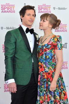 Andy Samberg and Joanna Newsom on the red carpet at the 2013 Spirit Awards on #SantaMonicBeach - Sat Feb 23, 2013   More pics here #cutecouple  http://celebhotspots.com/hotspot/?hotspotid=5788&next=1