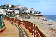 A part of the new Costa del Sol boardwalk, Calahonda, Mijas Costa - Málaga, Spain.