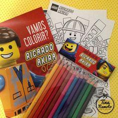 Lâminas para colorir no tema Lego Movie. Lego Party.