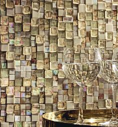 Mood Sunshine is a perfect mix of different size of #mosaic from #SICIS STRUCTURA Collection, in cream color.