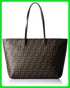 aff29d24a753 FENDI Zucca pattern 8BH185-00G87   F0QT2 Leather Tote Bag - Wallets ( Amazon