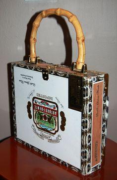 cigar purses | VTG Cigar Box Purse w/ Zebra Print & Tassel from kitschandcouture on ...