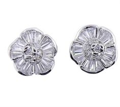 Baguette Flower Earring