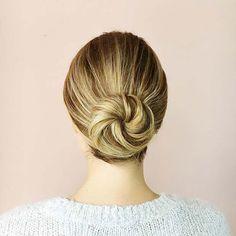 Simple Bun Hair Idea for Prom