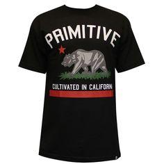 Primitive Apparel Cultivated noir T-Shirt pour homme