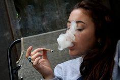 girl weed marijuana smoke ganja cannabis blunt joint pot high green stoner Smoking stoned
