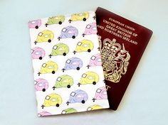 Caravan passport holder  candy travel wallet  caravan gift Passport Wallet, Passport Cover, Caravan Gifts, Cute Candy, Camping Gifts, Travel Gifts, Candy Colors, Birthday Presents, Printing On Fabric