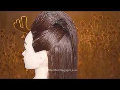 Easy Half Updo Hairstyles for Long Hair (Kim Kardashian Updo) # Celebrity Hairstyles