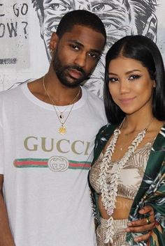 Big Sean wearing  Gucci Slim-Fit Printed Cotton-Jersey T-Shirt