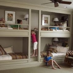 This is the coolest bunk bed arrangement ever.