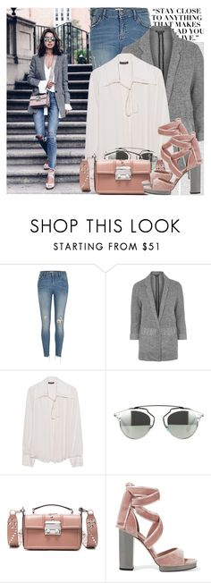 """""""2530. Blogger Style: Viva Luxury"""" by chocolatepumma ❤ liked on Polyvore featuring Oris, Topshop, Plein Sud, Christian Dior, Lanvin, Valentino, sandals, BloggerStyle and CasualChic"""