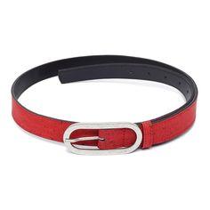 Gürtel «Ovalado» rot aus Kork – Kork Accessoires von Artelusa kaufen Belt, Accessories, Fashion, Fashion Styles, Natural Colors, Red Color, Pocket Wallet, Handmade, Belts