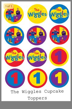 Wiggles Birthday, Wiggles Party, The Wiggles, 1st Birthday Cupcakes, 2nd Birthday, Birthday Parties, Sesame Street Party, Cupcake Toppers, First Birthdays