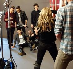 Always some distracted always some on the floor then there's Harry ... Just standing there... Being Harry