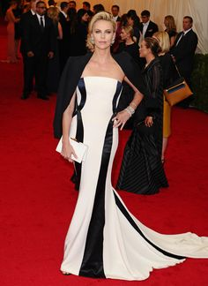 Charlize Theron at the Met Gala in Dior.