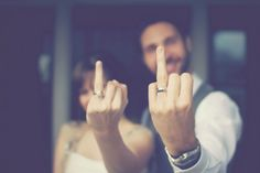 funny wedding picture . I would love to put these on our thank you cards. Love this idea