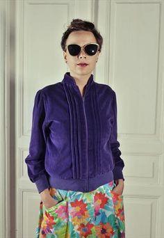 Vintage Velour Violet Jumper