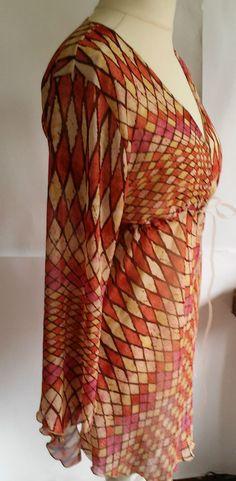beautiful chiffon blouse with long sleeves size L\XL