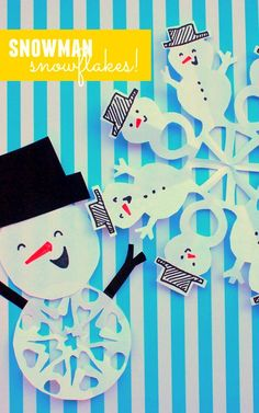 2 ways to cut snowman snowflakes with kids! Fun winter activity