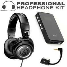Audio-Technica ATH-M50S Professional Closed-Back Studio Headphones (Straight Cable) + FiiO E7 USB DAC and Portable Headphone Amplifier + BONUS FiiO L9 L-Shaped Line Out Dock (LOD) Cable for iPod/iPhone + ButterflyPhoto MicroFiber Cleaning Cloth (Electronics) http://www.amazon.com/dp/B007MBSYTY/?tag=pindemons-20 B007MBSYTY