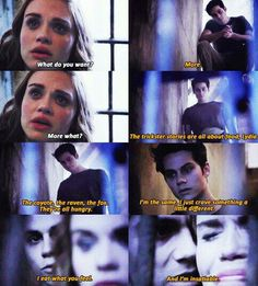 My favorite void Stiles part. Void Stiles showed how talented Dylan O'Brien really is. Dylan O'brien, Teen Wolf Dylan, Teen Wolf Stiles, Teen Wolf Cast, Malia Tate, Void Stiles, Tyler Posey, Lydia Martin, Stydia