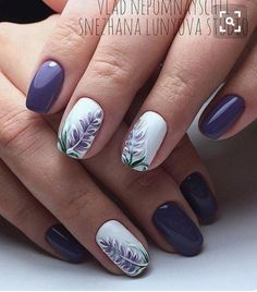 Nail designs, beautiful nail art, gorgeous nails, nail art designs, lilac n Beautiful Nail Designs, Beautiful Nail Art, Gorgeous Nails, Fancy Nails, Pretty Nails, Purple Nails, Flower Nails, Manicure And Pedicure, Pedicures