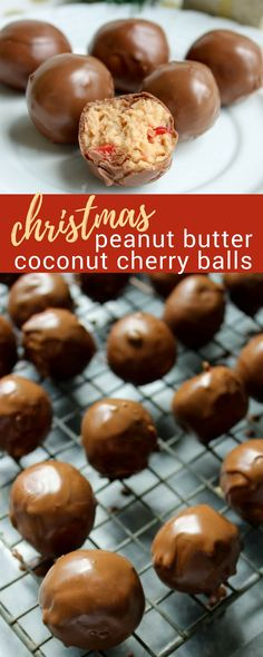 Christmas Peanut Butter Coconut Cherry Balls Recipe Christmas