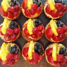 These fruit tartlets are almost too pretty to eat. ALMOST.