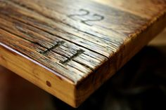 reclaimed wood restaurant tables - Google Search