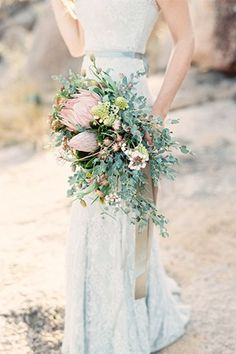 protea wedding bouquet - brides of adelaide