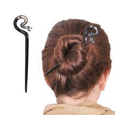 Marycrafts Black Snake Buffalo Horn Hair Stick, Hairstick, Hair Pin, Hairpin, Hair Accessory, Hair Toy Handmade 6 >>> This is an Amazon Affiliate link. Continue to the product at the image link.
