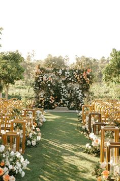 A wedding aisle right out of a fairytale. Your wedding aisle is waiting for you on PartySlate. Flora Farms Cabo, San Jose Del Cabo, Wedding Places, Floral Wall, Outdoor Ceremony, Beautiful Couple, Beautiful Lights, Flower Petals, Floral Arrangements
