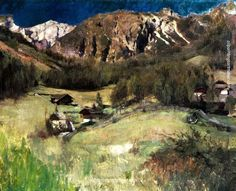Carl Eduard Schuch Landscape from Tyrol, painting Authorized official website