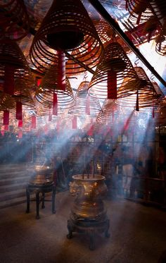 A Man Mo Temple (traditional Chinese: 文武廟) is a temple for the worship of the civil or literature god Man Tai (文帝) / Man Cheong (文昌) and the martial god Mo Tai (武帝) / Kwan Tai (關帝), popularly patronized by scholars and students seeking progress in their s Beijing, Shanghai, Hong Kong, A New York Minute, Asian Architecture, Art Asiatique, Into The West, China Travel, Italy Travel