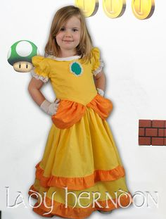 Princess Daisy costume from Matio Kart! Leotard with skirt add ...