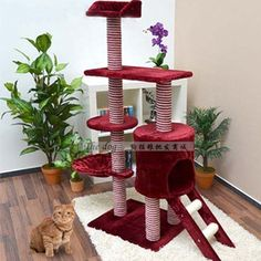 Luxury multifunctional cat climbing frame multi layer cat toy cat scratch board cat tree-inPet Products from Home  Garden on Aliexpress.com $98.83