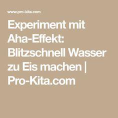 Experiment mit Aha-Effekt: Blitzschnell Wasser zu Eis machen | Pro-Kita.com
