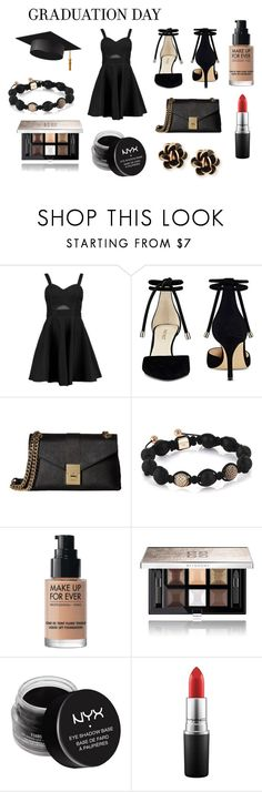 """graduation day"" by polyvore966 ❤ liked on Polyvore featuring Boohoo, Nine West, Calvin Klein, MAKE UP FOR EVER, Givenchy, NYX, MAC Cosmetics and Chantecler"