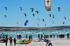 Kitesurfing competition in Langebaan. BelAfrique your personal travel planner - www.BelAfrique.com