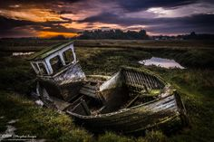 https://flic.kr/p/n3RS29 | Abandoned. | www.tmorphewimages.co.uk 3 shot HDR of the often photographed abandoned boat at Thornham Staithe, Norfolk. Taken at sunrise last October using Canon 7D, Ef-S 17-55 f/2.8 @ 20mm f/16,iso160 and Formatt Hitech 0.9 reverse nd grad filter. 1/20 sec, 1/6 sec, 0.5 sec exposures blended using HDR pro in Photoshop CC and further editing using ACR and CC.