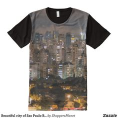 Beautiful city of Sao Paulo Brazil at night All-Over-Print T-Shirt - Visually Stunning Graphic T-Shirts By Talented Fashion Designers - #shirts #tshirts #print #mensfashion #apparel #shopping #bargain #sale #outfit #stylish #cool #graphicdesign #trendy #fashion #design #fashiondesign #designer #fashiondesigner #style