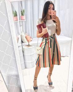"""350439235 JAQ JACOB ⚡ MODEST STYLE on Instagram  """"hoje é dia de voltar às origens  🔥💃🏼 ⠀ look da vigilia com estreia da minha saia da  santoliboutique """""""