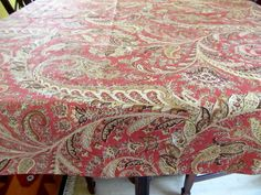Table Cloth #12, Round Table Cloth Paisley, made from Indoor/Outdoor Cotton