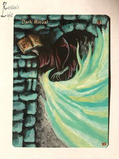 Dark Ritual - Full Art - MTG Alter - Revelen's Light Altered Art Magic Card…