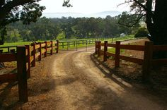 Country driveway fences