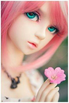 Six pink: cute bjd doll Beautiful Barbie Dolls, Pretty Dolls, Cute Dolls, Anime Dolls, Bjd Dolls, Dope Cartoon Art, Gothic Dolls, Angel Pictures, Digital Art Girl