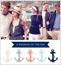 Sail in Style: Nautical Chic. Love the color palette