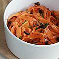 Salade de carottes au cumin, olive noire et coriandre