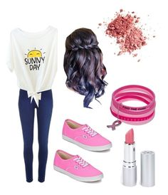 """""""Pink...............will find cure"""" by poptartqueen24 ❤ liked on Polyvore featuring River Island, Vans and HoneyBee Gardens"""