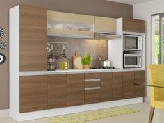 Cozinha Compacta Madesa Smart G20074097G - com Balcão 12 Portas 2 Gavetas 100% MDF